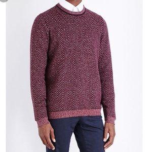 Ted Baker, men's Uncle herringbone sweater